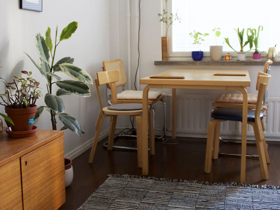 We are very keen on the simplicity of Finnish furniture.