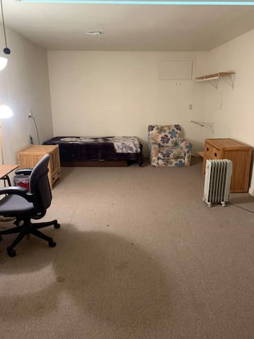 Studio attached to garage,Shared bathroom in house