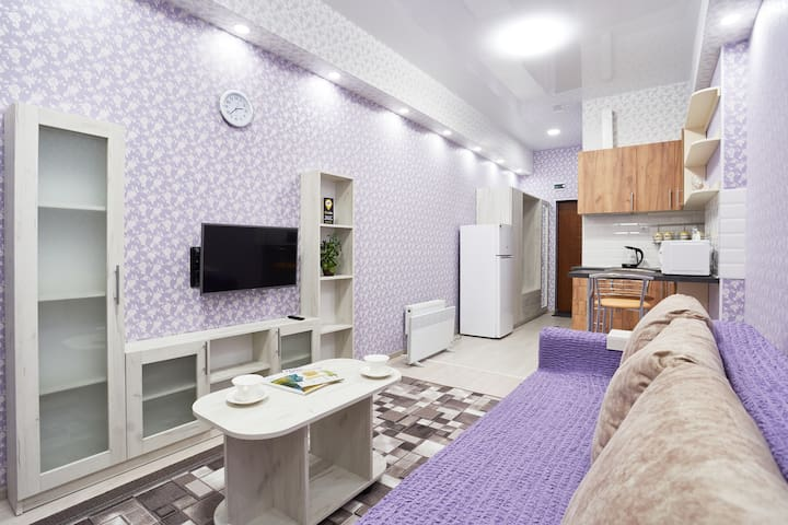 """Lavender"" apartment at Frantsuzskiy bulvar"
