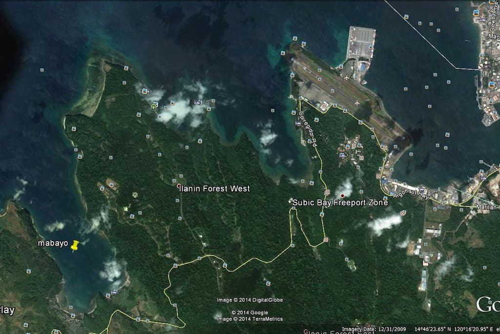 aerial map of subic w mabayo morong