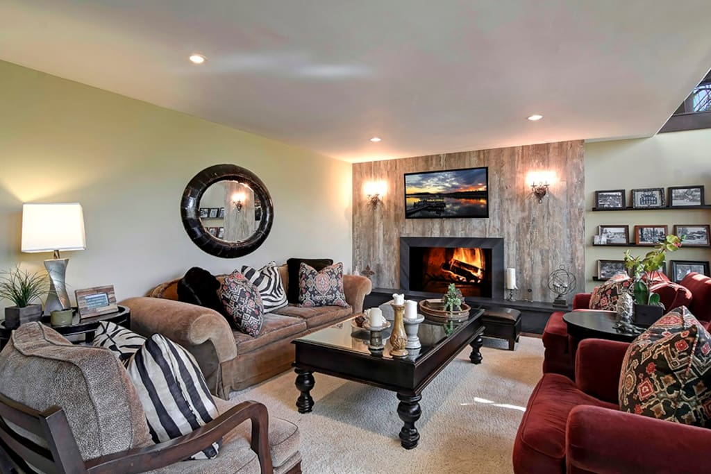 Great Room | Fine furnishings & designer details abound. Comfortable & intimate (main level)