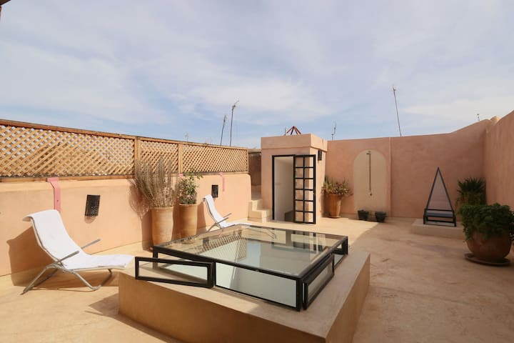 Appt en Médina 60m²+ terrasse 60m² - Marrakesh - Apartemen