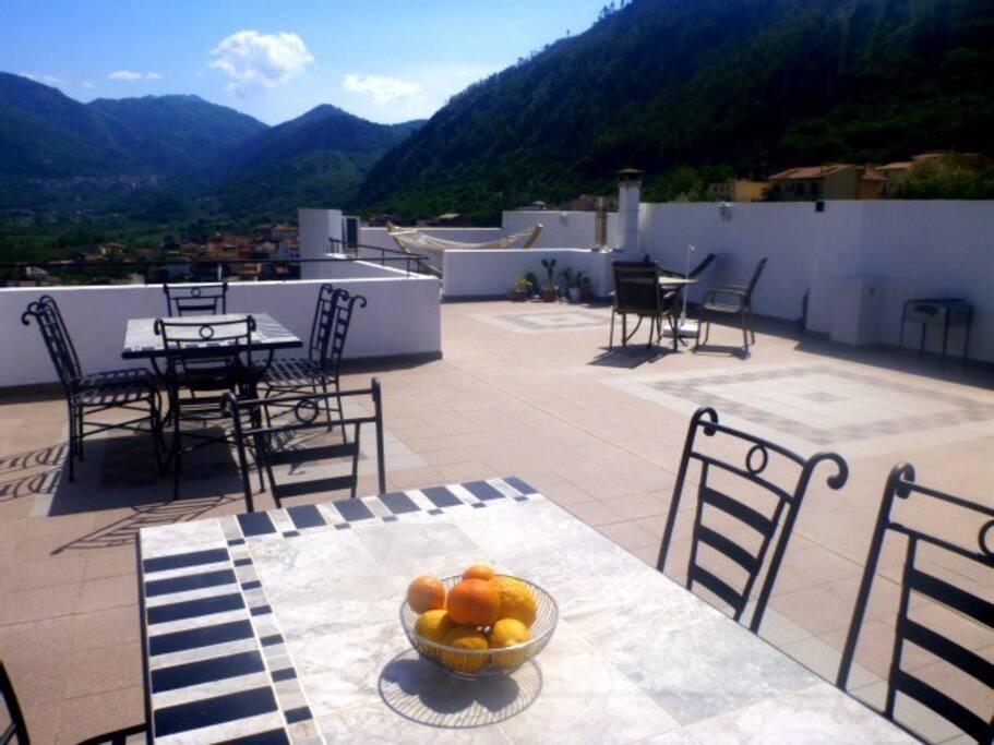 Die Dachterrasse - genießen Sie, Sonne, Ruhe und das Panorama