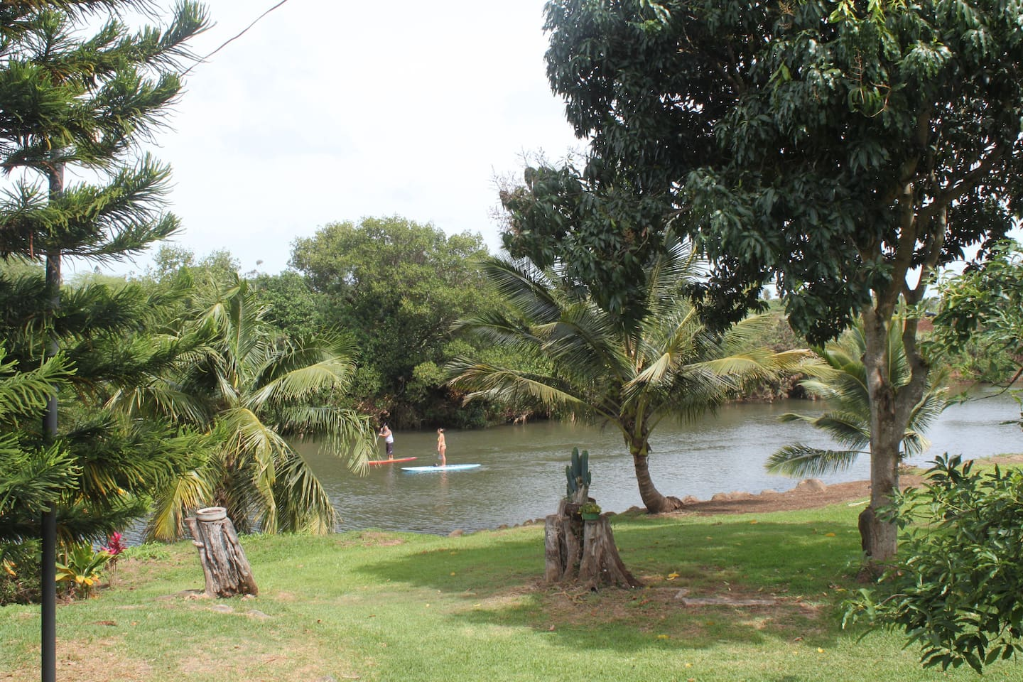 Backyard fronting the Anahulu River