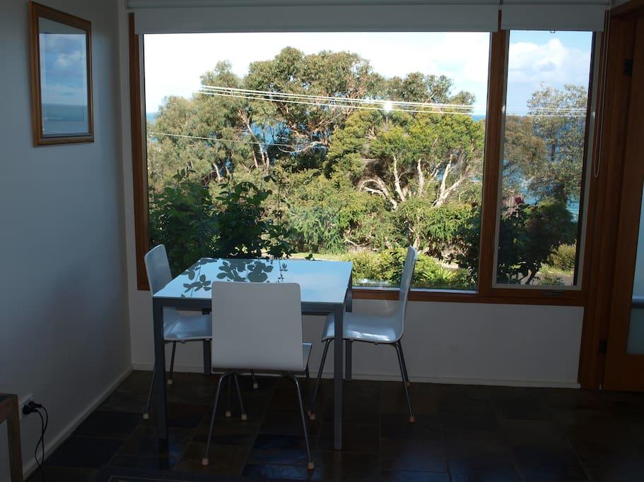 Ocean and garden view