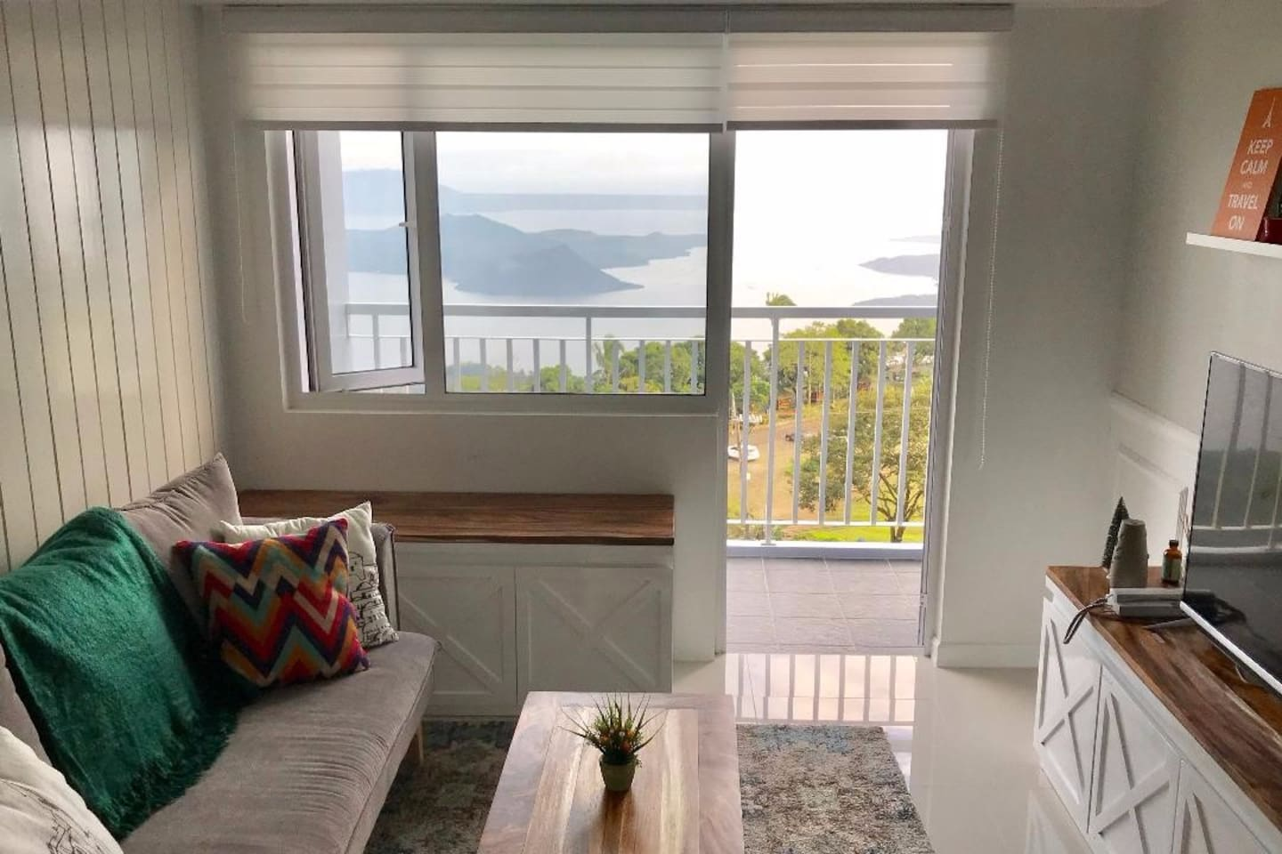 Wake up to the stunning views of Taal Lake
