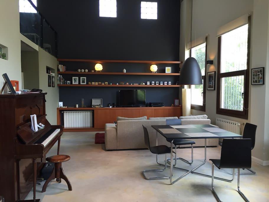 livingroom area with street view