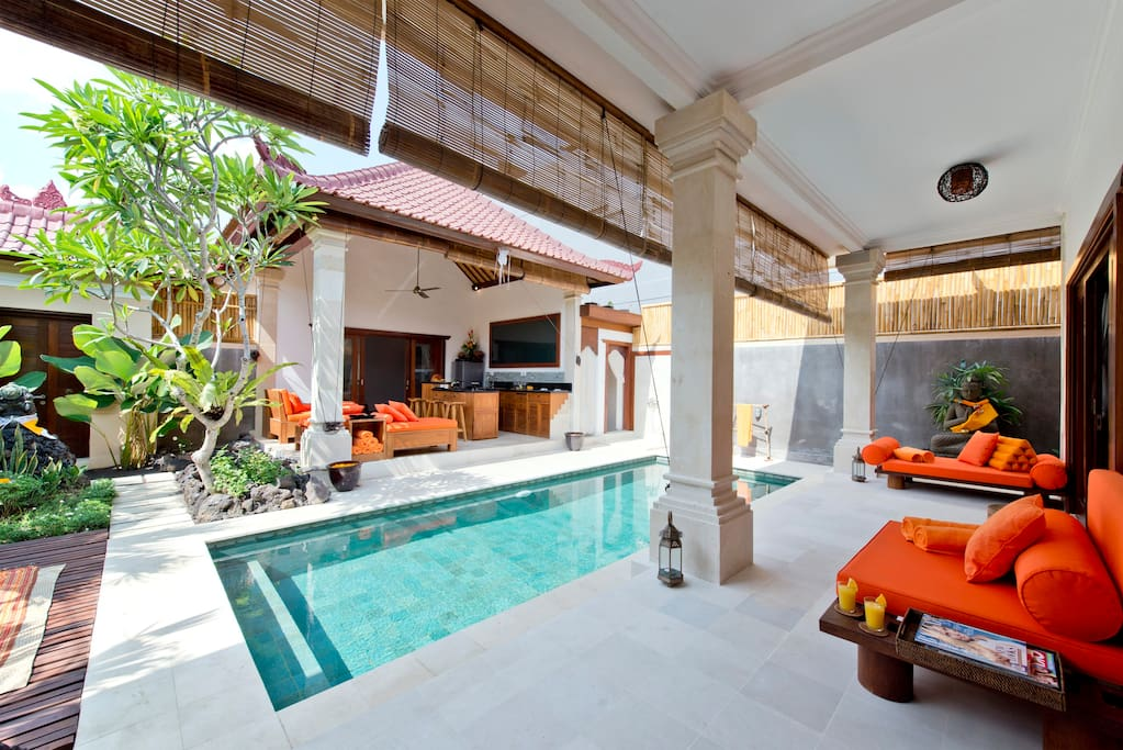 Balcony looking onto your private pool
