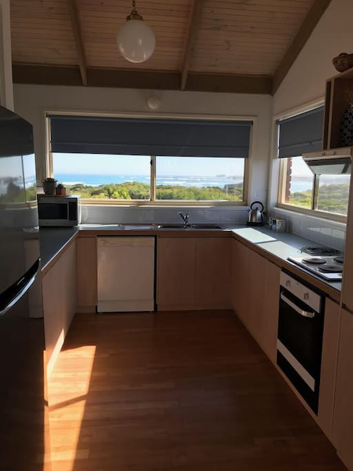 Fully equipped kitchen with views