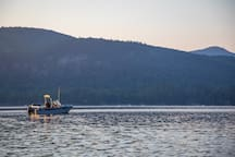 The deepest part of the lake is located in front of the house so bring your fishing pole!