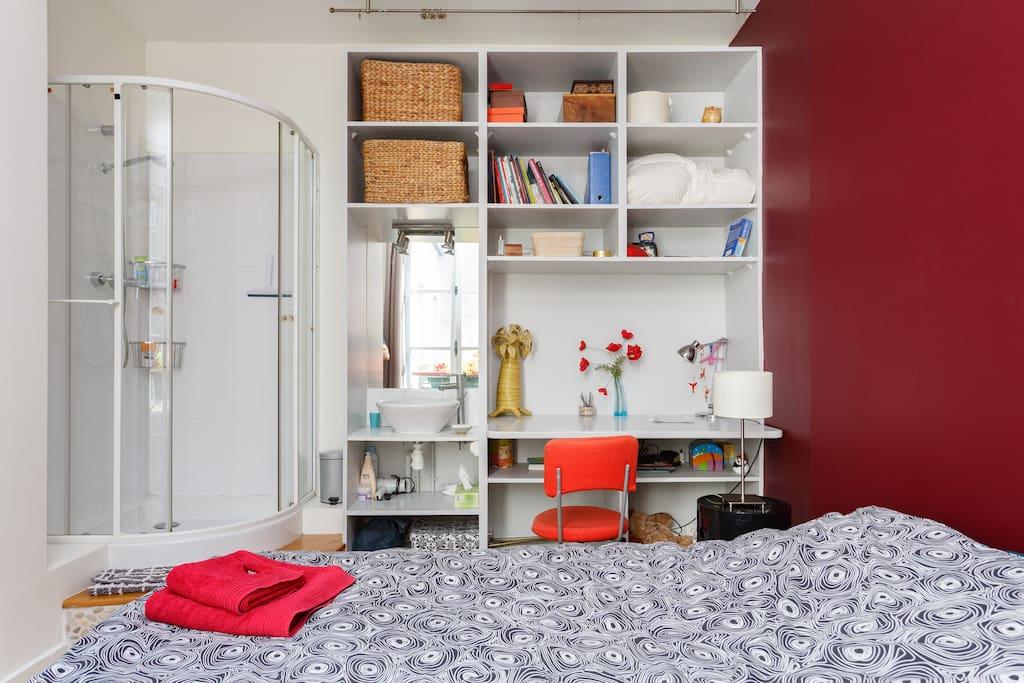Votre chambre, pas un bruit, très cosy