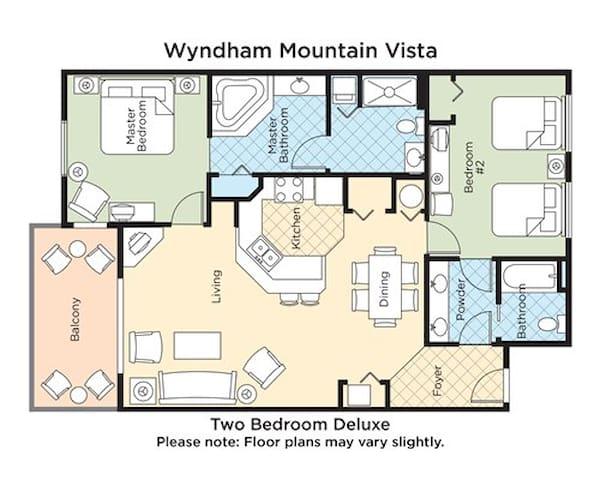 Wyndham  Mountain Vista Resort, Sleeps 8