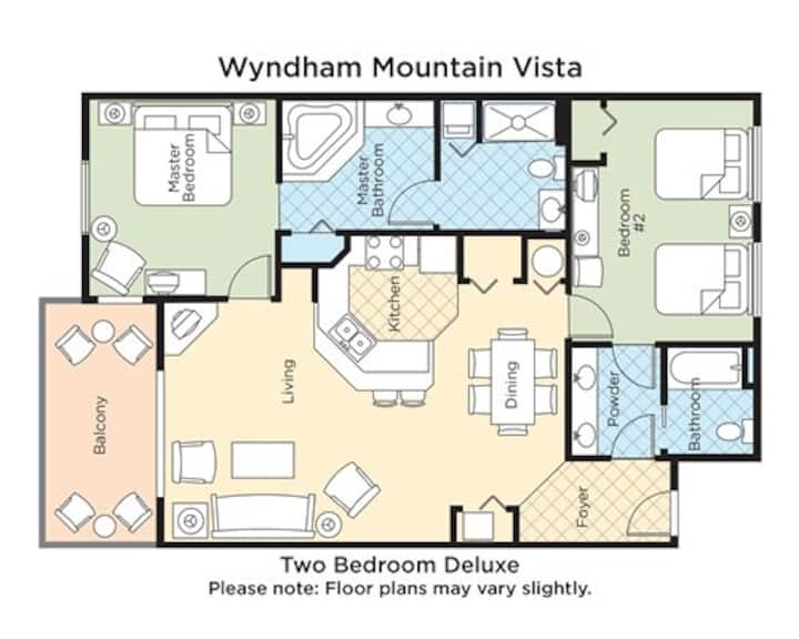Wyndham Mountain View2, Sleeps 8