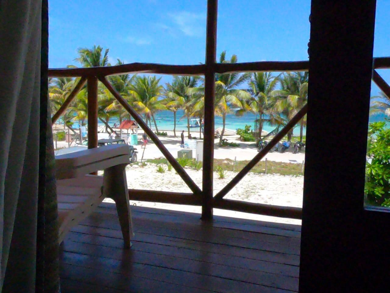 Balcón con vista al Mar Caribe