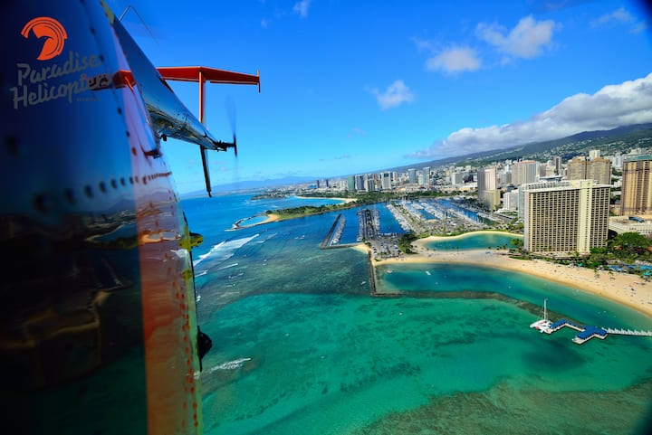 Waikiki Beach & Honolulu Harbor
