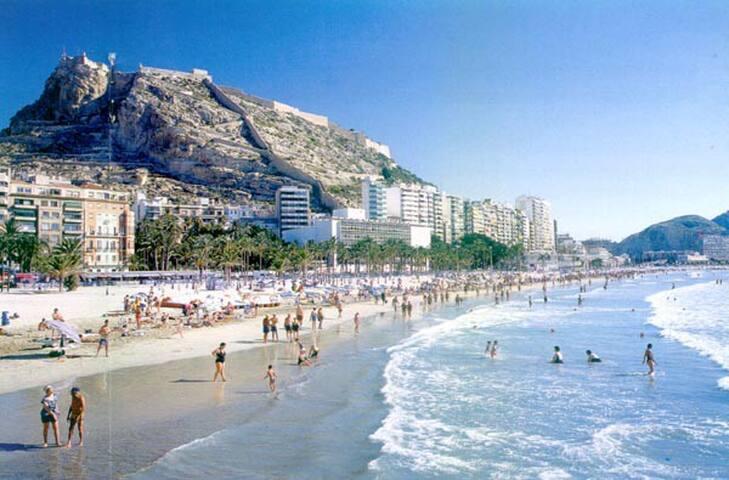 Centro ciudad y playa a 100 m