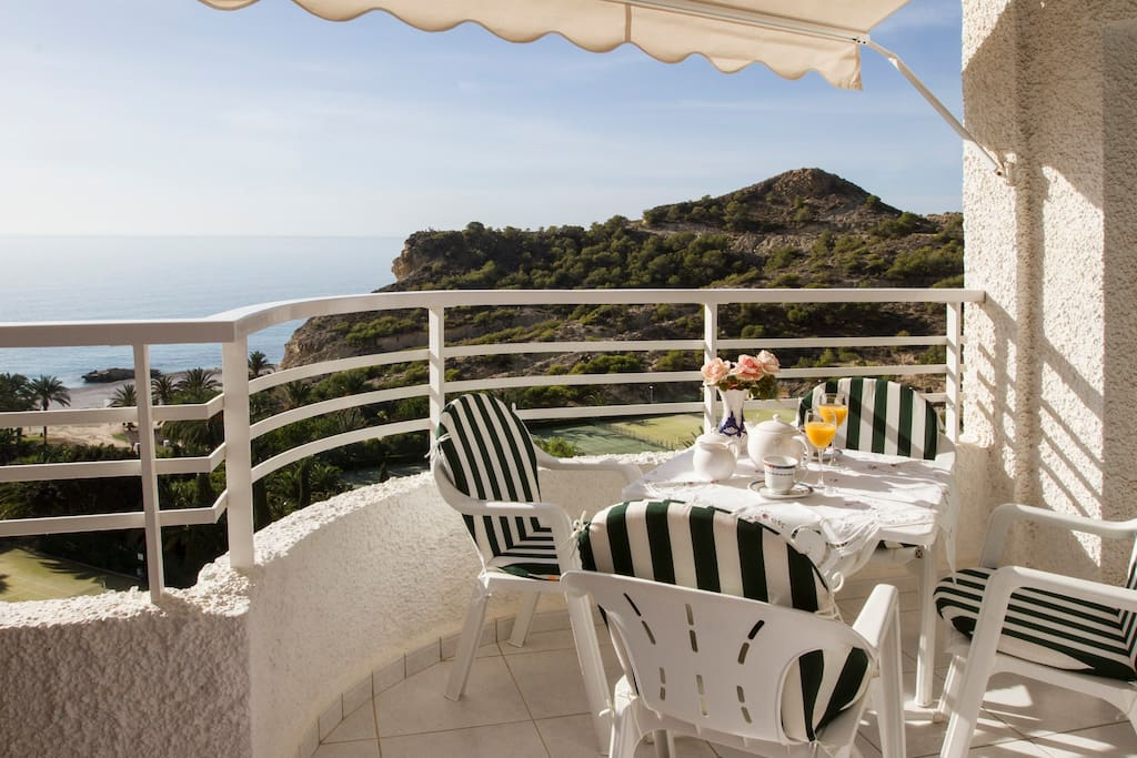 ... offering magnificent views on the surroundings of la Caleta beach ...