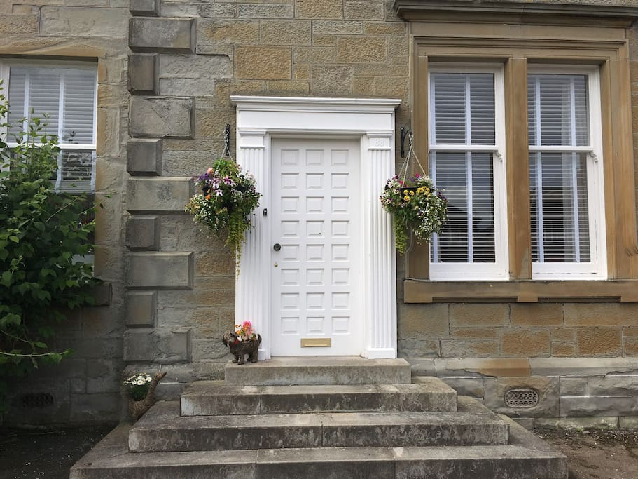 Hanging baskets will adorn the front door entrance.(perhaps not during winter!)