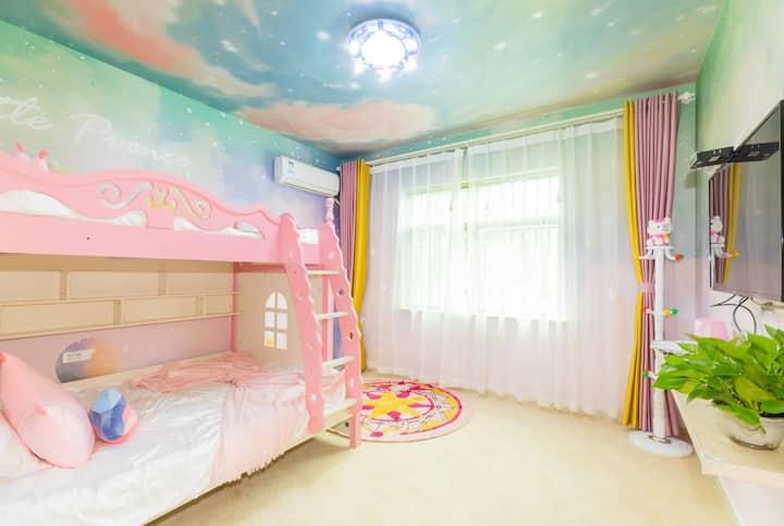 粉红泡泡屋  儿童乐园