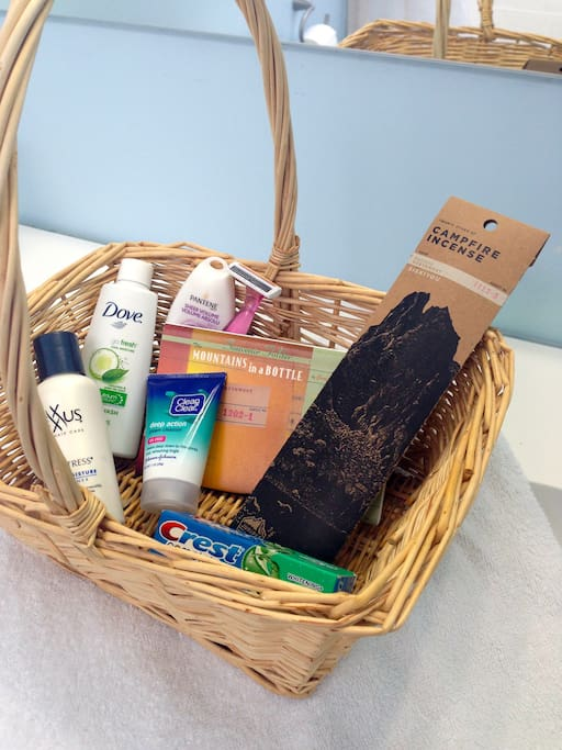 I offer a welcome basket including these items, fresh towels, and  a robe.