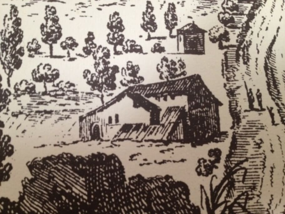 da una antica cartina del 1700