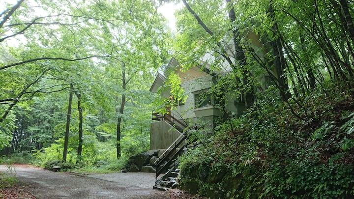 静寂な森の中の別荘/プライベート空間/自然/Peaceful villa in the forest
