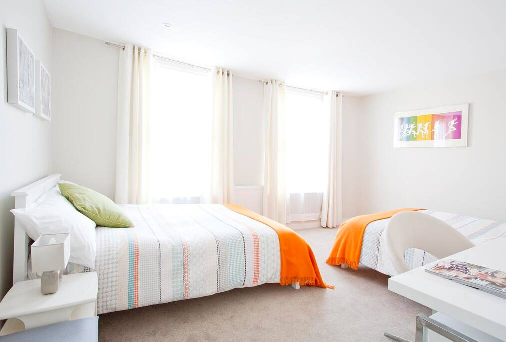 Large double bedroom with 2 x double beds