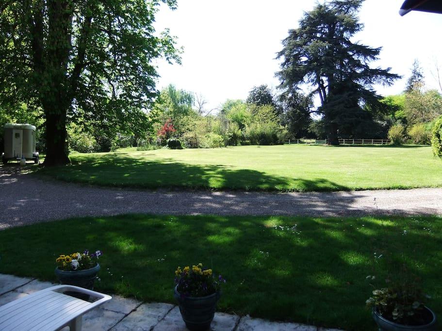 Parc vu de la terrasse