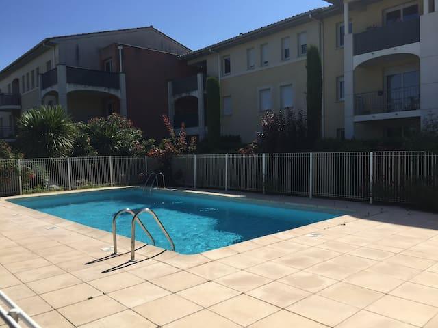 Appartement avec terrasse/piscine/parking privé