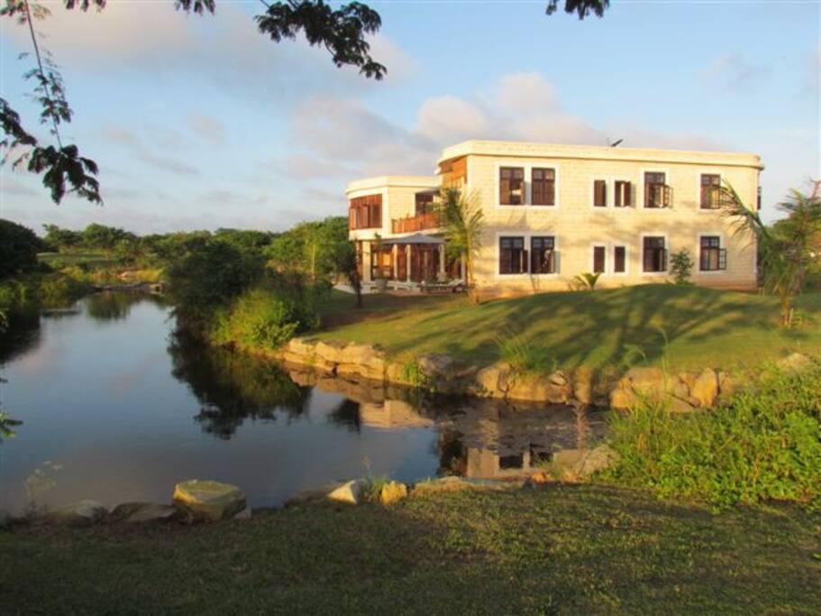 Dar Saba facade from the golf course