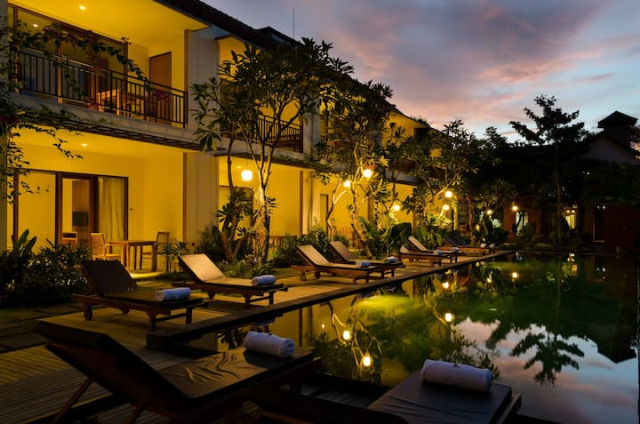 Suite Room with pool at Ubud center