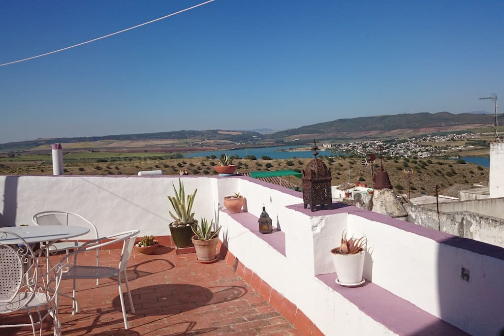 Private terrace with its views of the lake