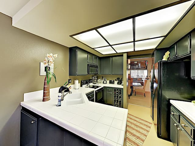 The modern kitchen awaits your culinary adventures.