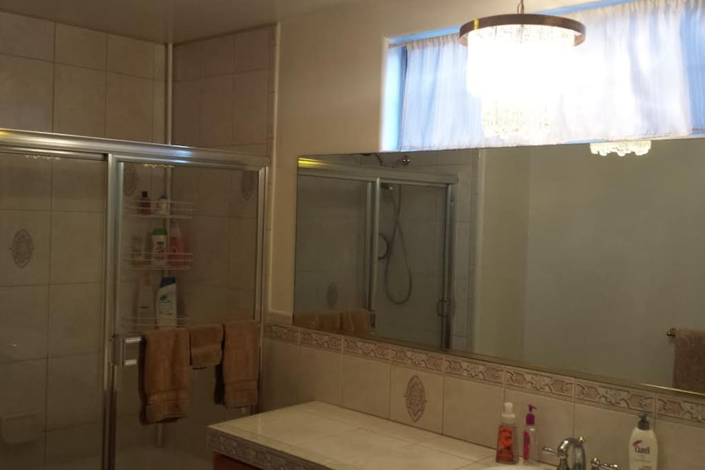 Very Large and Spacious Bathroom will make you feel right at home, and provide relaxation and comfort after a long day of traveling and sightseeing!