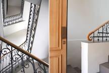 Historische und moderne Elemente - Eingang zu Treppenhaus