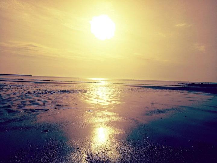 大海的故乡,日照的家,清晨看日出,夜晚听涛踏浪,房间宽敞明亮46平米,给您的旅游带来美好的回忆!