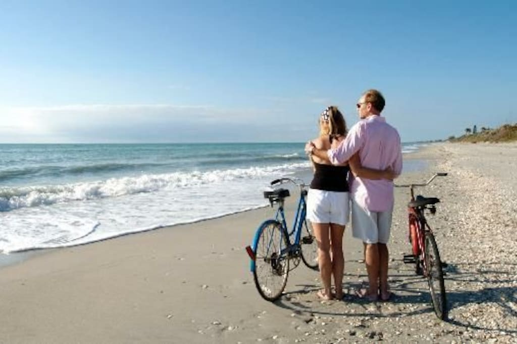 enjoy walks and bike rides along the beaches and the Beautiful trails at Indian Mound State Park.