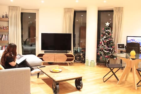 Spacious bedroom in Canary Wharf - Londres - Appartement