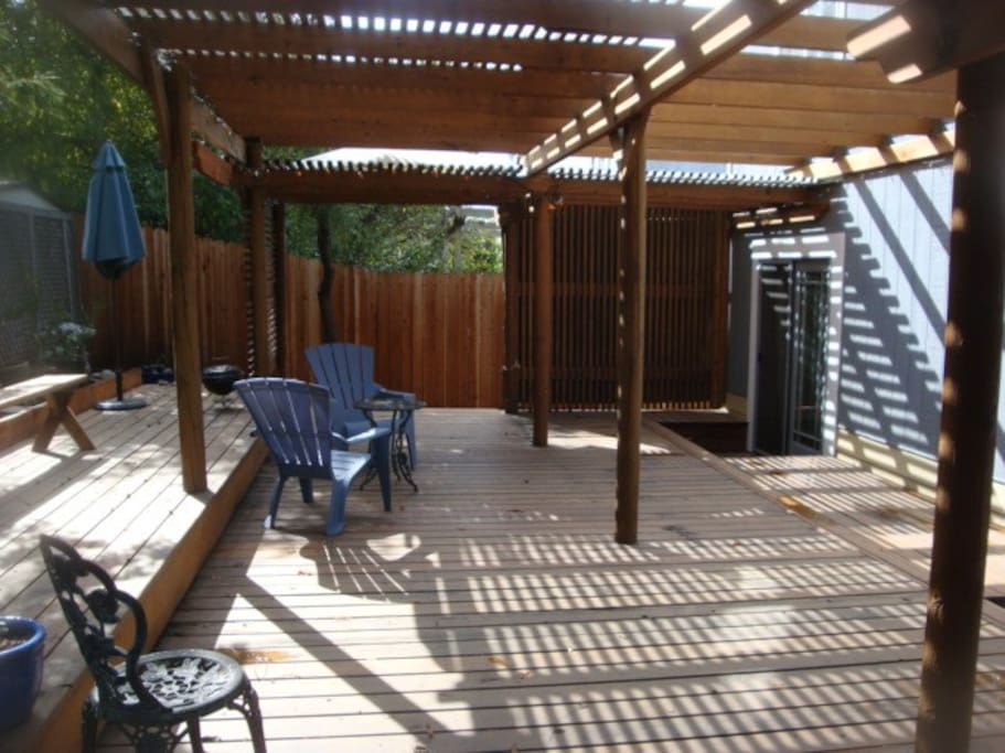 Deck in back yard