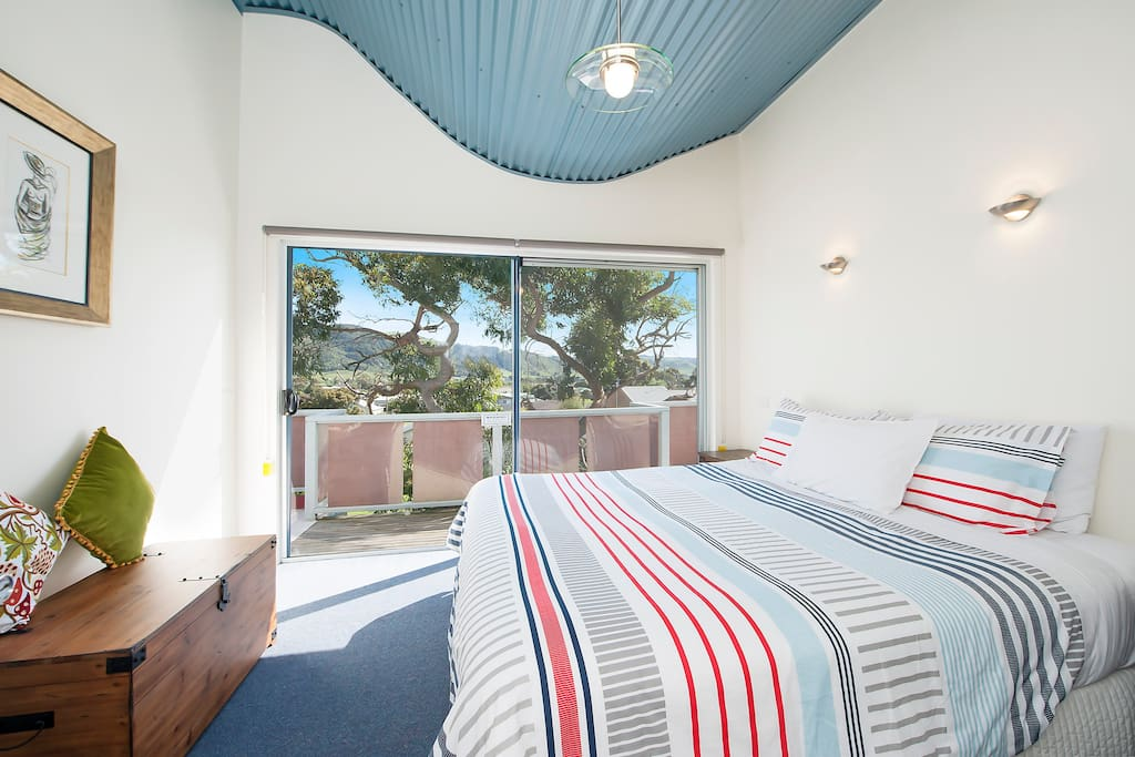 Master bedroom - views to The Otways and township