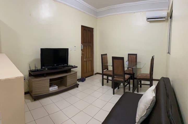 #Melhor custo benef.  Airbnb Apt Wi-Fi e TV cabo*