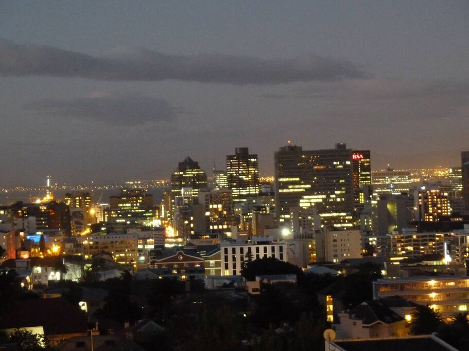 Stunning view of the mother city at night
