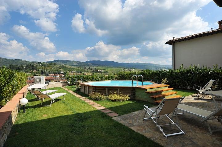 Villa A with pool in Chianti
