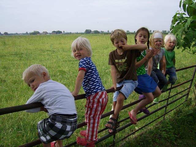 Lekker spelen met de andere kinderen