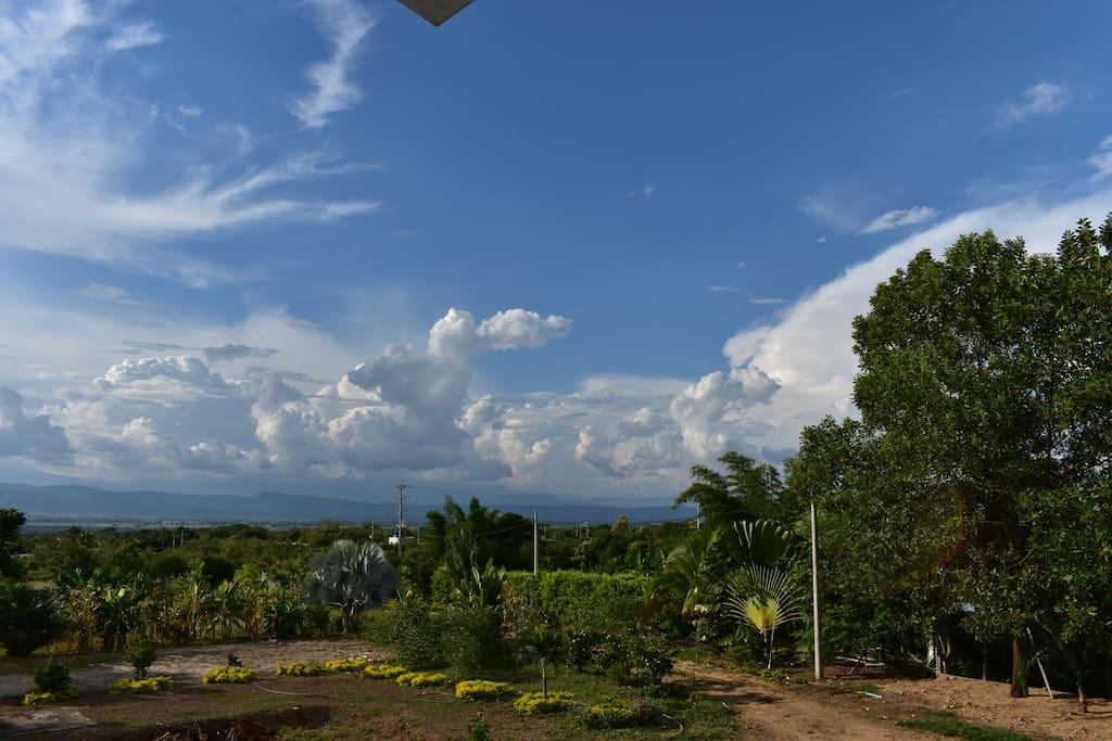 Vista desde el balcón al valle