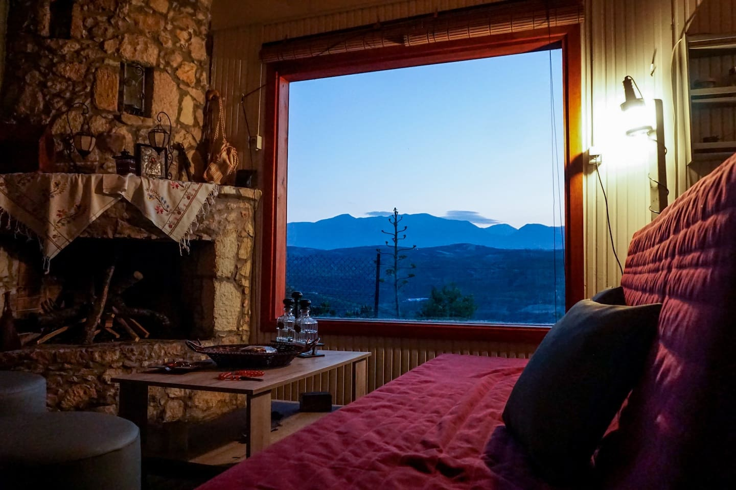 window overlooking nature and mountains
