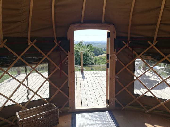 Looe Yurts a tranquil location with a view