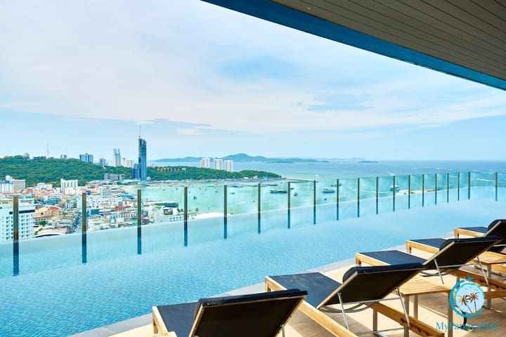 THE BASE,30st floor 2BD with stunning views!!! - Muang Pattaya - Appartement