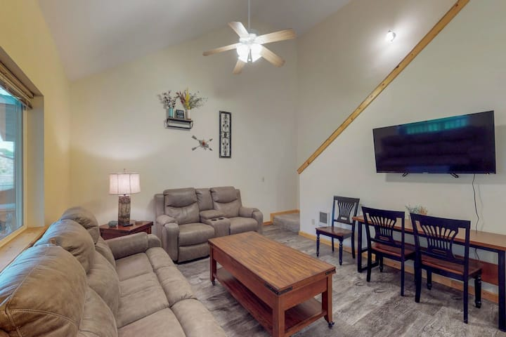 Lovely, central family home w/patio, yard -near fishing, skiing