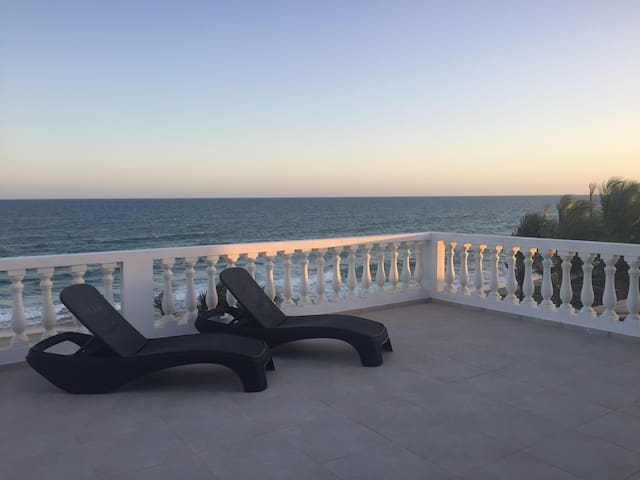oceanfront colonial style villa near Salvador